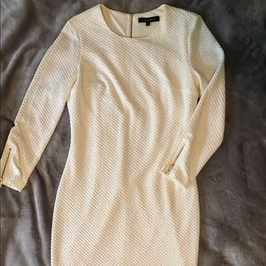 fitted white body con holiday dress Dynamite